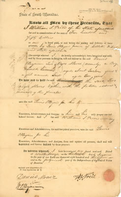 Bill of Sale 1835