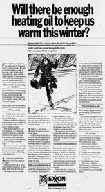 Exxon Ad in Newspaper
