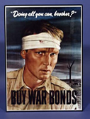 War Bonds poster. Doing all you can, brother? Buy War Bonds.
